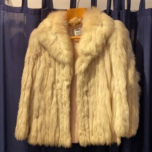Saga Fox Natural Blue Fox Fur Coat